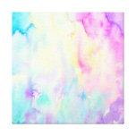 Lona púrpura azul del paisaje abstracto de la impresión en lienzo