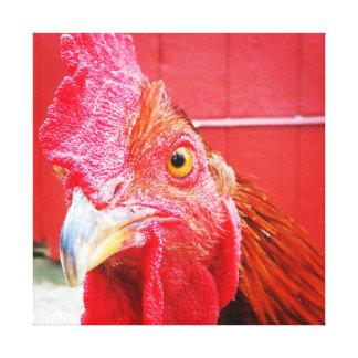 Lona roja de la foto de la cocina del país del impresiones en lienzo estiradas