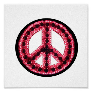 lona roja de la paz posters