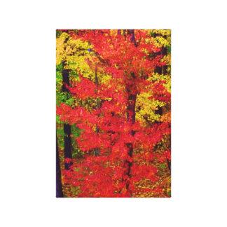 Lona, rojo de la caída en el amarillo, estilo del  impresión en lienzo