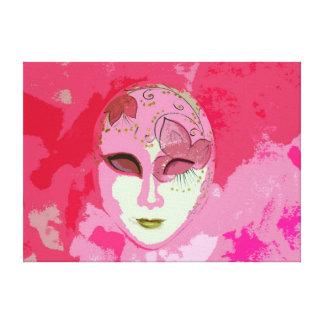 Lona rosada abstracta bonita de la máscara de la m impresión en lona