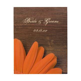 Lona rústica de madera del boda del país de la mar cuadros de madera
