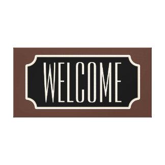 Lona rústica del signo positivo de Brown Lona Envuelta Para Galerías