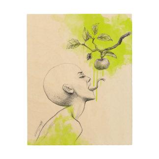 Lona surrealista de madera del arte del pecado impresión en madera