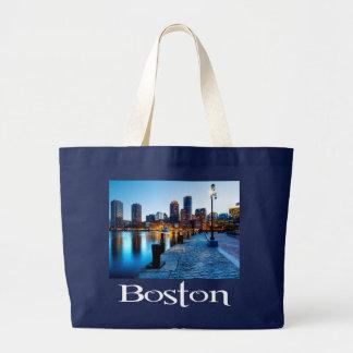 Lona Totebag de Boston Massachusetts Bolsa Tela Grande