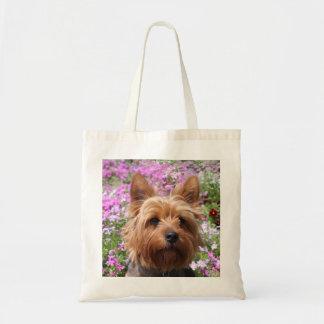 Lona Totebag de la playa del perro de perrito de Bolsa