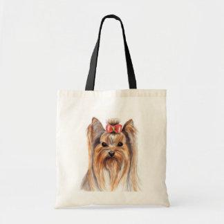 Lona Totebag de Yorkies Yorkshire Terrier del amor Bolsa