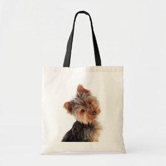 Lona Totebag de Yorkies Yorkshire Terrier del amor Bolsas Lienzo