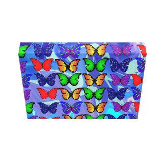 Lona Trippy de la mariposa Impresión En Lona Estirada