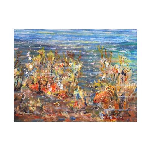 Lona tropical del acuario de los pescados del lona estirada galerias