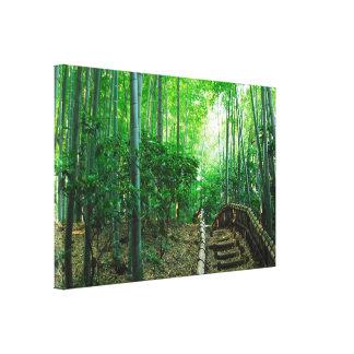 Lona verde colorida del abrigo del bosque de bambú impresión en lienzo