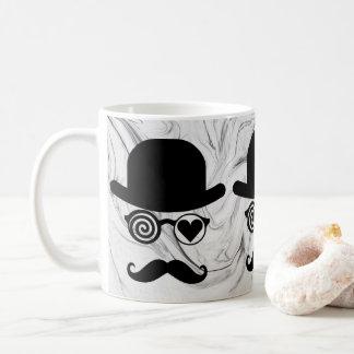Londinense en mármol de los vidrios del gorra del taza de café