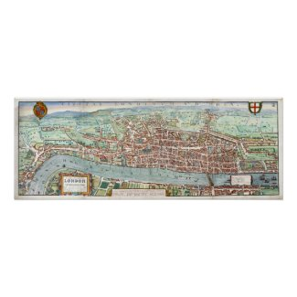 London1560 Map Poster