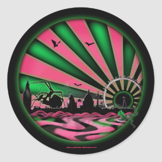 London.2058 Acid Rain Classic Round Sticker