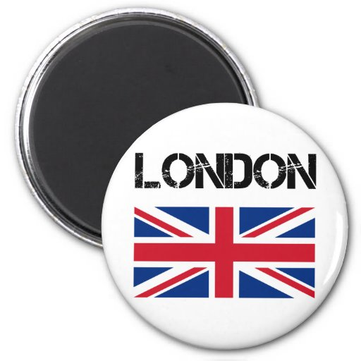 London 2 Inch Round Magnet