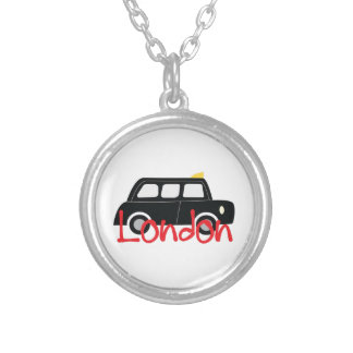 London 2 round pendant necklace