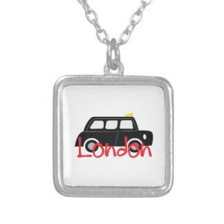 London 2 square pendant necklace