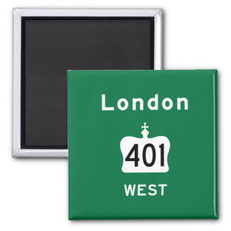 London 401 2 inch square magnet