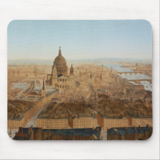 London: a bird's eye view of St. Paul's and the Ri Mouse Pad