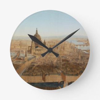 London: a bird's eye view of St. Paul's and the Ri Round Clocks