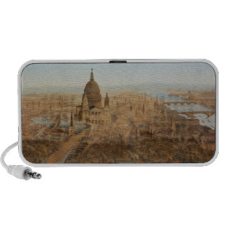 London: a bird's eye view of St. Paul's and the Ri Travel Speaker