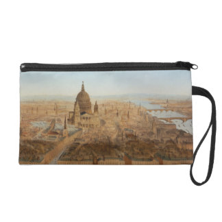 London: a bird's eye view of St. Paul's and the Ri Wristlet