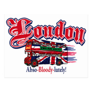 London Abso-Bloody-Lutely Postcard