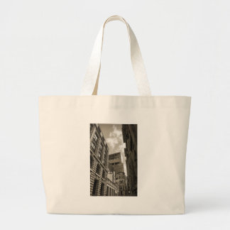 London architecture. large tote bag