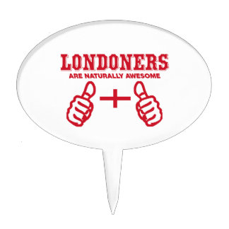 London are naturally awesome cake topper