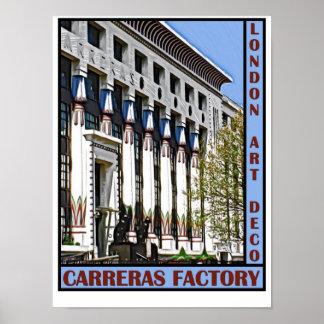 London Art Deco - Carreras Factory Print