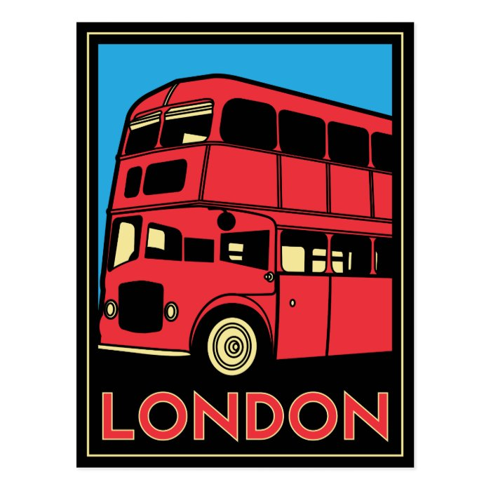 London Art Deco Poster Postcard