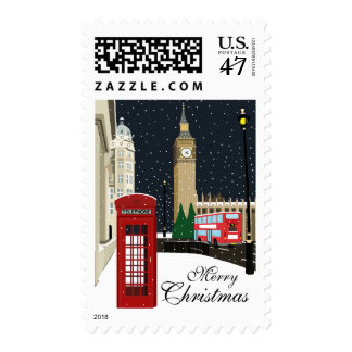 London At Christmas Postage Stamps