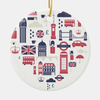London at Heart Ceramic Ornament