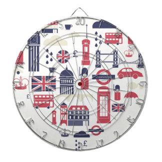 London at Heart Dart Board