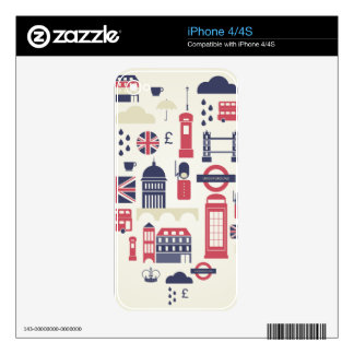 London at Heart iPhone 4 Decal