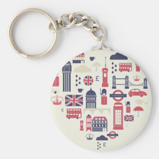 London at Heart Key Chains