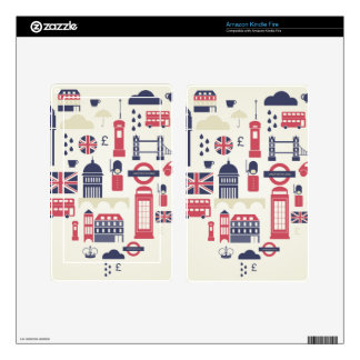 London at Heart Kindle Fire Decals