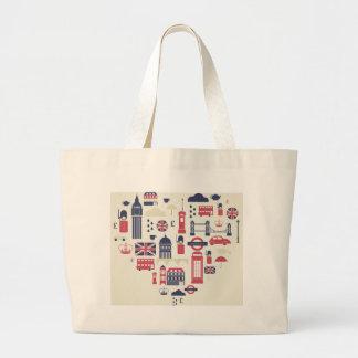London at Heart Large Tote Bag