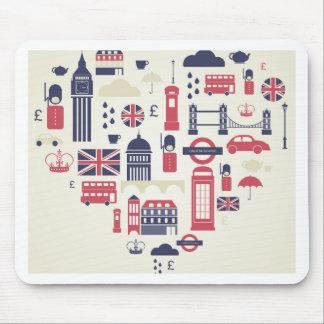 London at Heart Mousepad