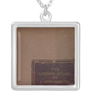 London atlas of universal geography 2 square pendant necklace
