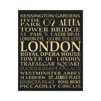 London Attractions Canvas Print