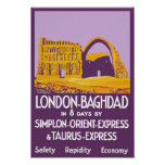 London - Baghdad Orient Express Poster