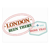 London Been there done that Postcard