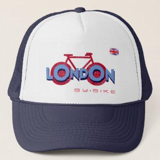 London bicycling trucker hat