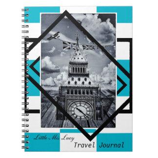London, Big Ben Art, Travel Journal No1 (Notebook)