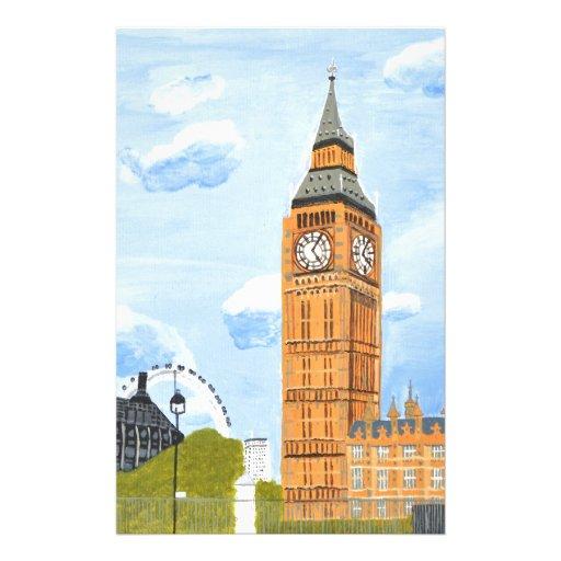 London Big Ben Custom Stationery