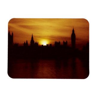 London-Big Ben-Elizabeth Tower-Sunset-Magnet Rectangular Photo Magnet