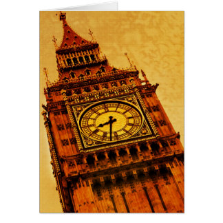 London, Big Ben grunge Card