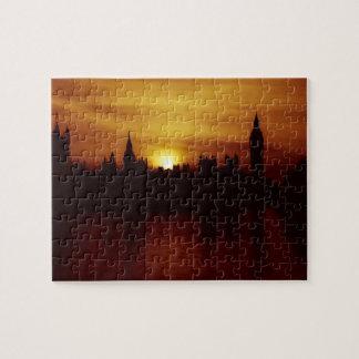 London - Big Ben - Parliament - Sunset - Puzzle