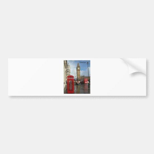 London Big Ben Phone box (by St.K) Bumper Sticker